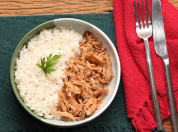 Pulled pork + arroz branco