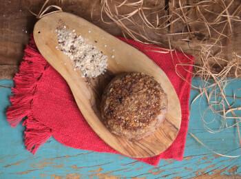 Polpetone mussarela light com crosta quinoa