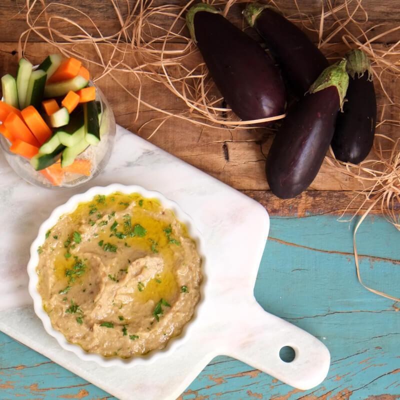 Babaganoush + crudités de legumes