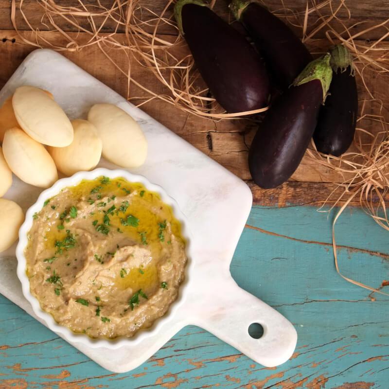 Babaganoush + pão sirio mini