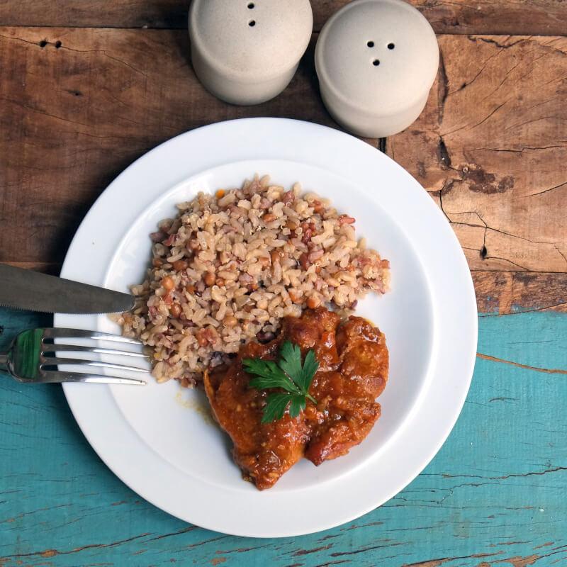 Sobrecoxa caipira-arroz 7graos