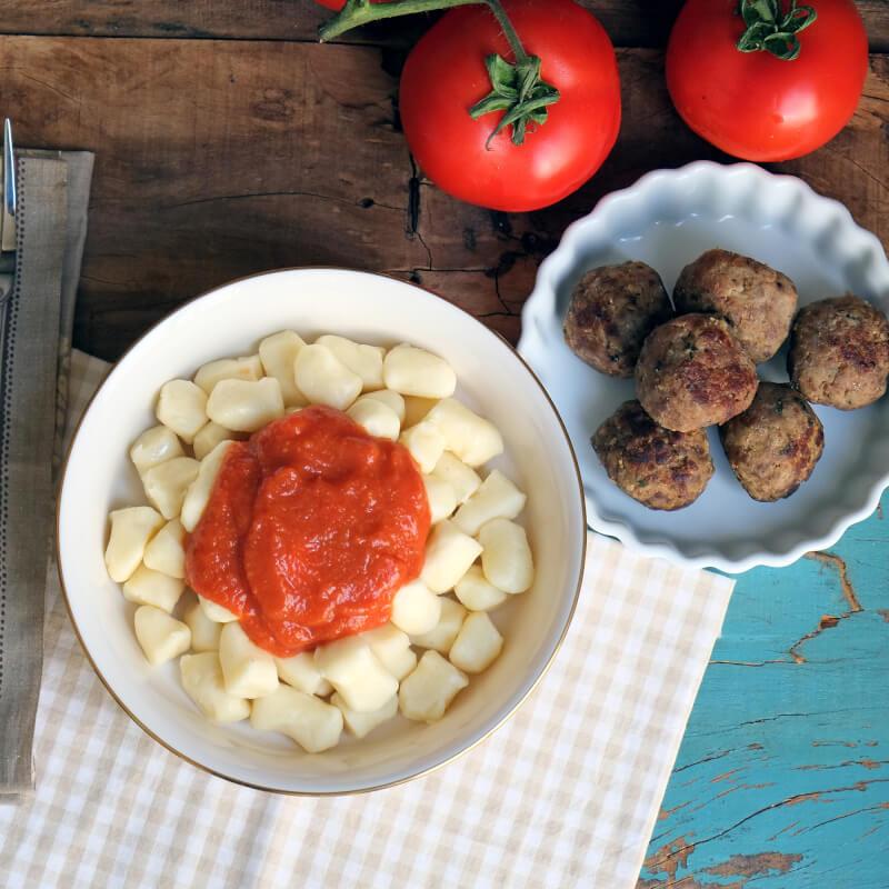 Polpette-nhoque batata-sugo