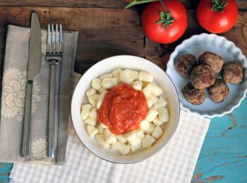 Polpette + nhoque de batata + molho sugo