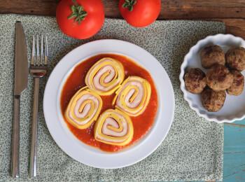 Polpette + rondelli presunto e queijo + molho sugo