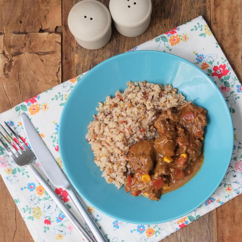 Picadinho com arroz 7 grãos