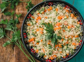 Couscous marroquino c/ abobrinha e cenoura